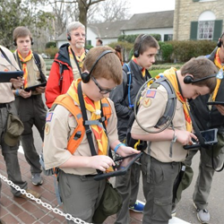 These Boy Scouts fire up their iPads to tour Graceland.