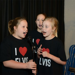 "These Girl Scouts sang ""Suspicious Minds"" at Elvis karaoke."