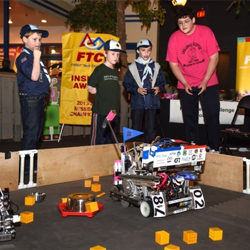First Tech Challenge Robotics showed off their best robots at Scouts Rock.