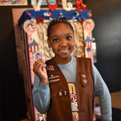 When Scouts voted for their favorite Elvis song, they received an Elvis for President sticker.
