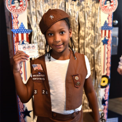 Scouts learned about how voting works by voting for their favorite Elvis song in an Elvis-inspired voting booth.