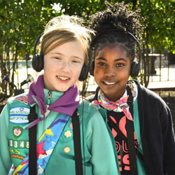 Hundreds of Scouts visited Scouts Rock at Graceland.