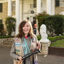 Scouts Rock at Graceland included -what else? - a tour of Elvis Presley