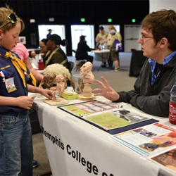 The Memphis College of Art encouraged Scouts to get creative.