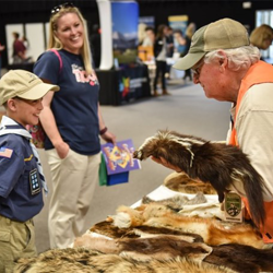 Scouts checked out everything from animal pelts to fossils.