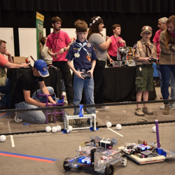 Scouts learned all about robotics from the DeSoto County Robotics Club.