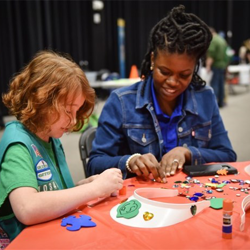Scouts got crafty at Scouts Rock at Graceland.