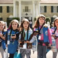 Scouts from across the country toured Graceland.