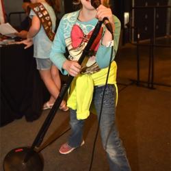 Scouts has fun singing Elvis tunes at Sing Like a Star Karaoke.