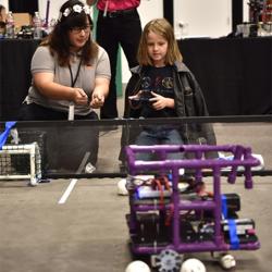 The DeSoto County Robotics Club taught Scouts the basics of robotics.