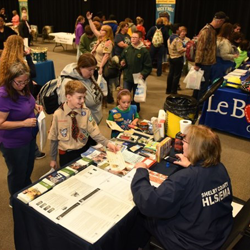 A representative with the Shelby County Office of Preparedness taught Scouts about the work they do.