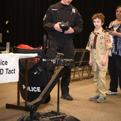 Scouts had the chance to interact with the Memphis Police Department Tact Unit