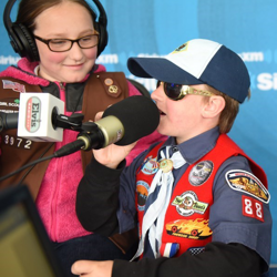 Scouts learned about how to be a DJ at the SiriusXM Elvis Radio studio.
