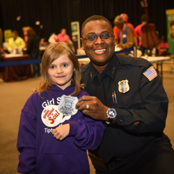 Memphis Police Department officers had fun teaching Scouts about being a police officer.