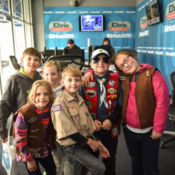 Scouts visited the SiriusXM Elvis Radio studio at Graceland to learn more about becoming a DJ.