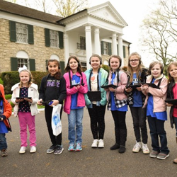 Scouts toured Graceland and learned about Elvis.