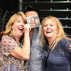 The Holladay Sisters recreate their Elvis photo with Dean!