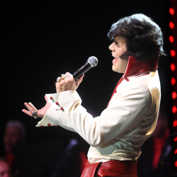 Taylor Rodriguez, 21, won the Ultimate Elvis Tribute Artist Contest.