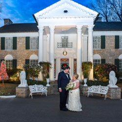 Jerry and Lisa Metcalf of Louisiana were married at Graceland's Chapel in the Woods on December 29, 2018.