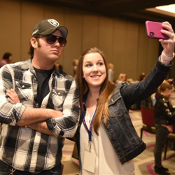 Cody Slaughter snapped selfies with fans at The Guest House at Graceland.