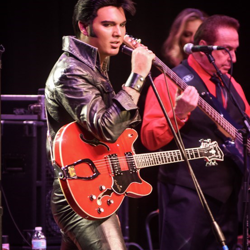 2011 Ultimate Elvis Tribute Artist Contest champ Cody Slaughter, from Arkansas, performed hits Elvis sang on the