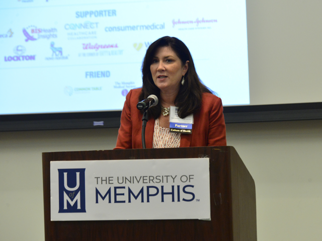 Nancy Averwater. Corporate VP for Human Resources at Baptist Memorial Health Care, introduced our kick-off keynote address.