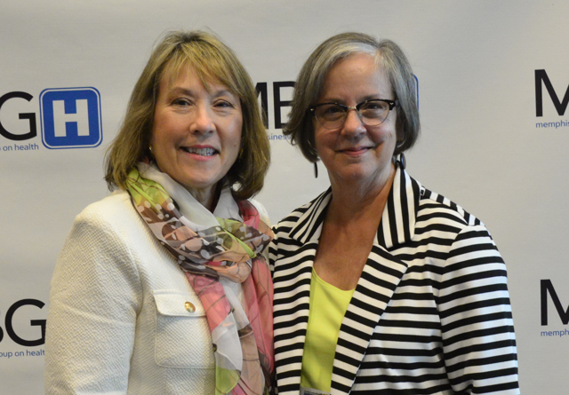 Claire Shapiro, President of MBGH Board, and Cristie Travis welcomed everyone