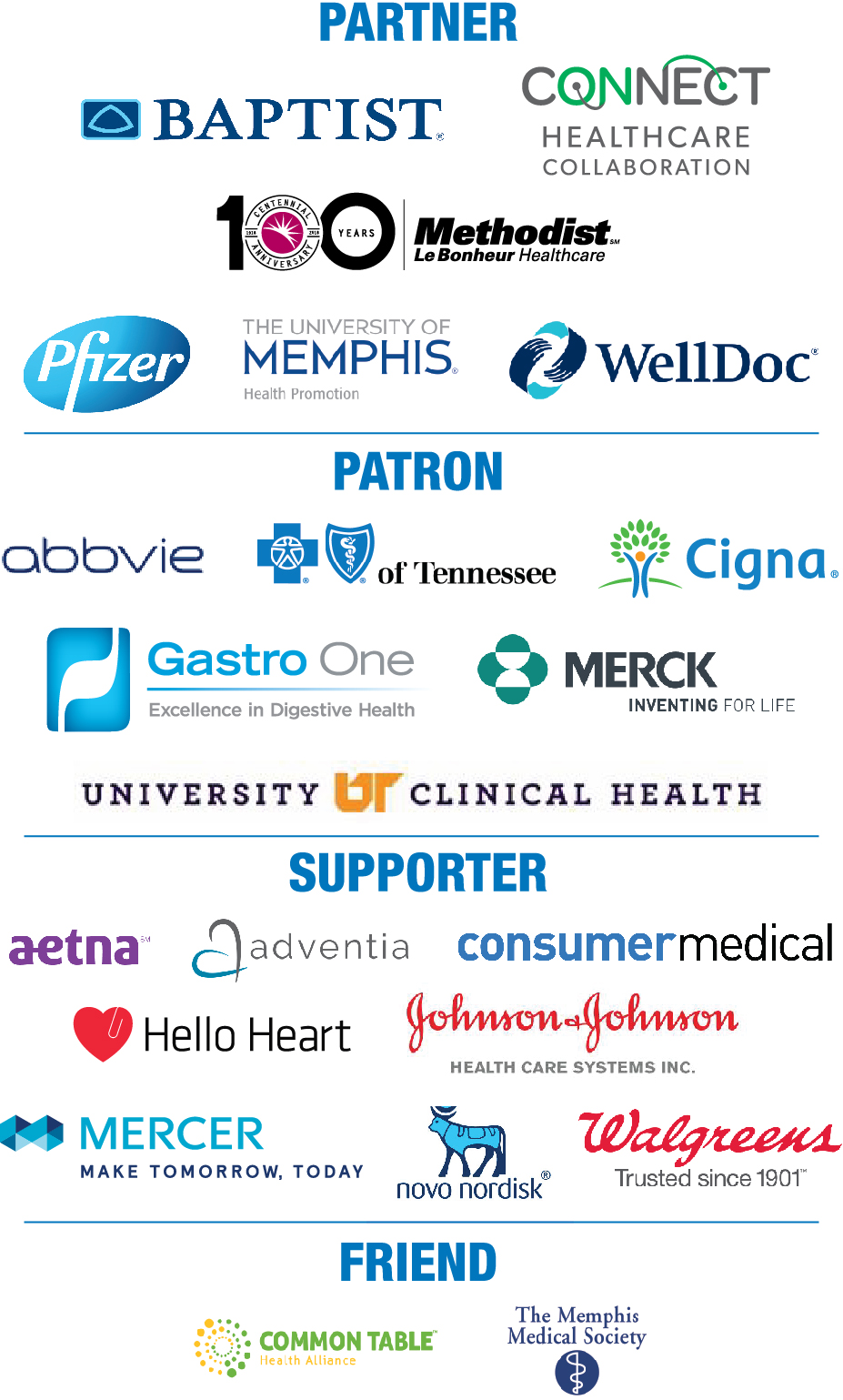 July 2018 MBGH Conference Sponsors