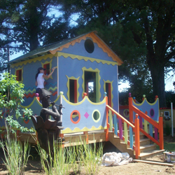 House of Rock is one of several interactive playhouses on Playhouse Lane.
