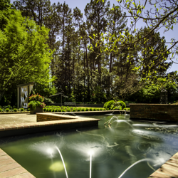 Water features appeal to the senses in a relaxing way.