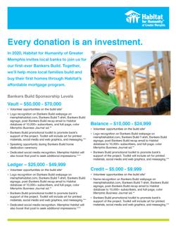 2020 Bankers Build sponsorship packet
