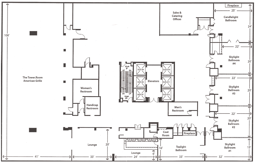 Rooms Floor Plans Weddings Tower Center Memphis Tn