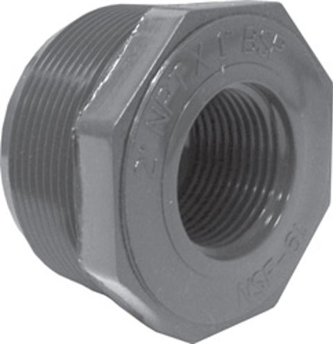 Sch80 Reducer Bushing (Flush Style)<br/>MPT x BSP
