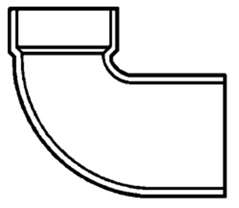 DWV CLOSET BEND, REDUCING<br/>H x SP