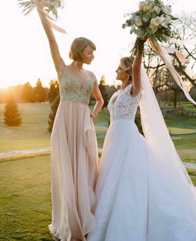 Get The Look: Taylor Swift\'s Maid of Honor Gown by Reem Acra