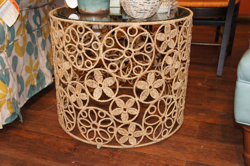 Jute Floral Side table