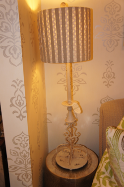 White Distressed Lamp