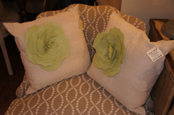 Pillow with Green Flower