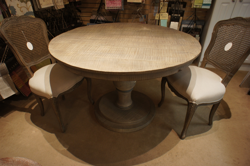 "Grey Washed 48"" Round Table"
