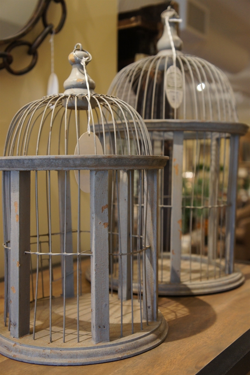 Set of Two Wooden Birdcages