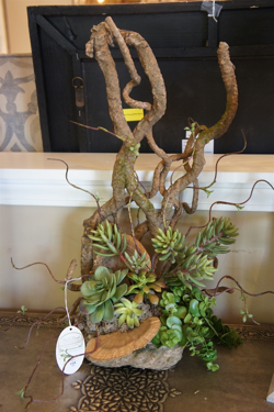 Succulent Floral With Twigs