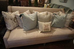 Grey Armless Linen Sofa