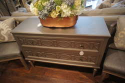 Silver Metallic 2 Drawer Chest