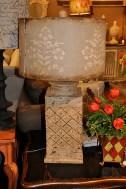 Distressed Creme Lamp