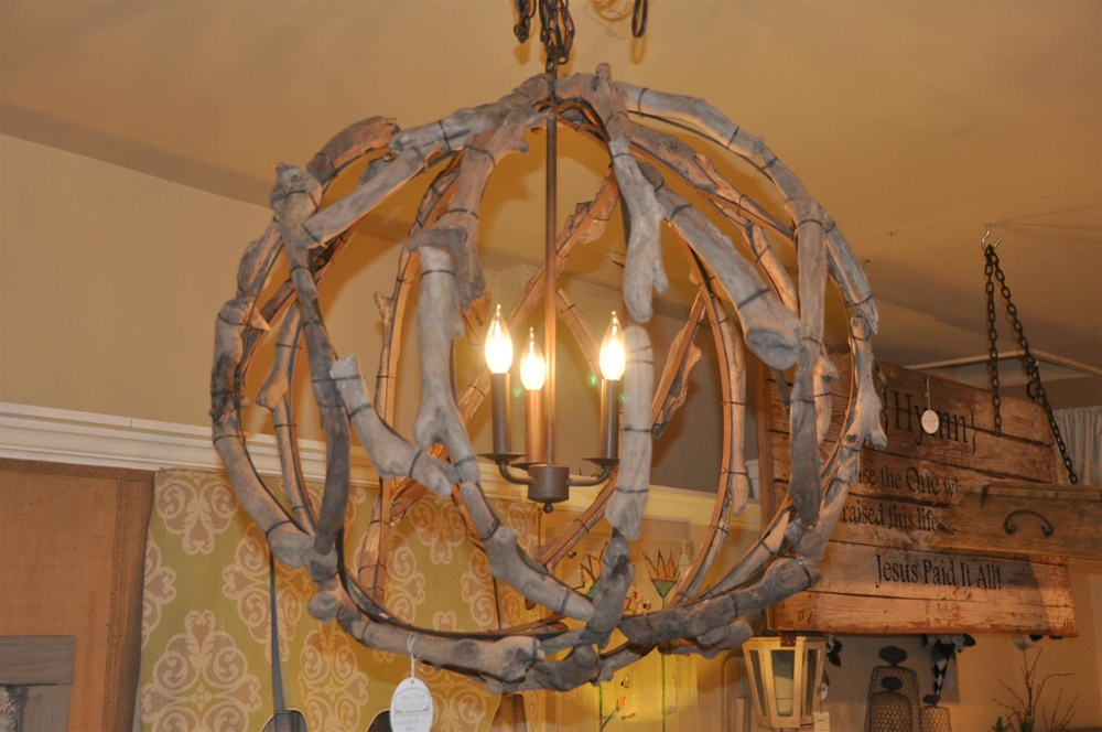 First Fruit Collection Driftwood Globe Light Fixture