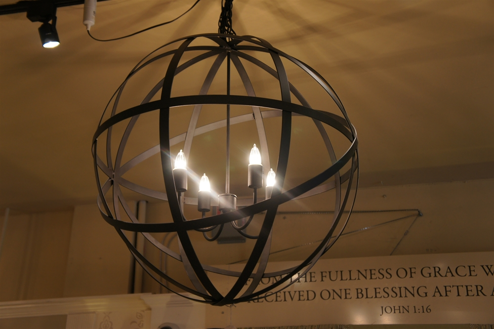 First Fruit Collection: Black Globe Chandelier