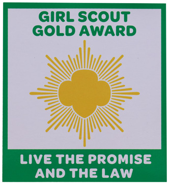 my project for the gold award for girl scouts