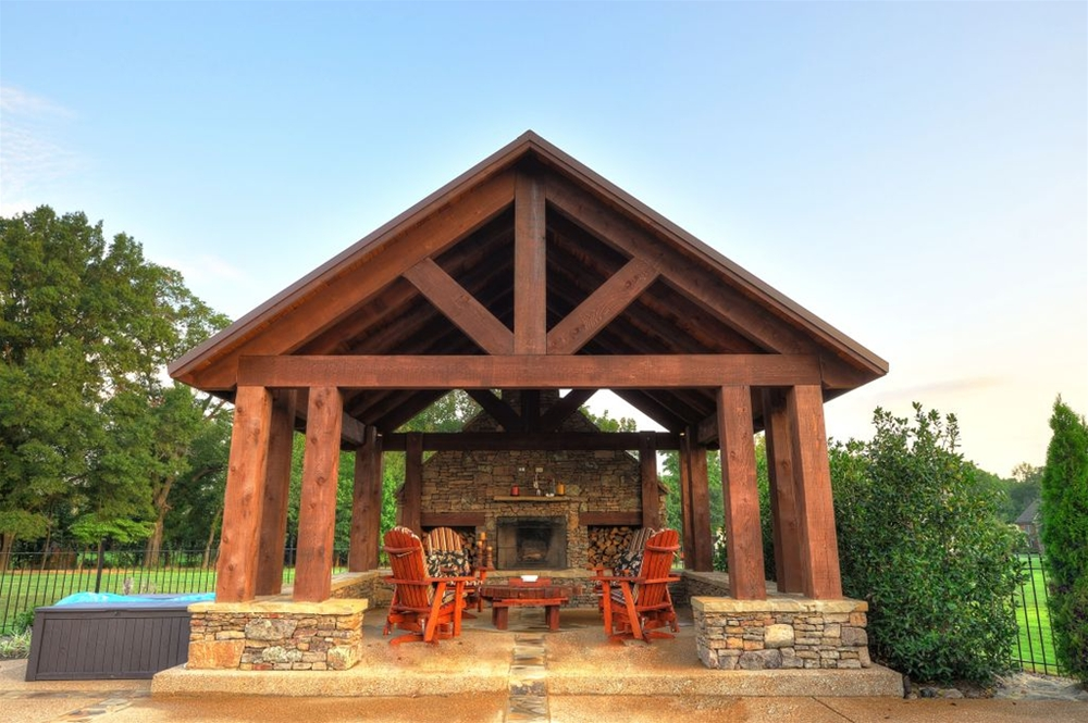 Examples of our pergolas cabanas and outdoor kitchens quotes for Outdoor kitchen roof structures