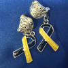 Down Syndrome Awareness CLIP ON earrings
