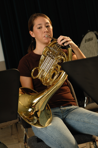 French horn player